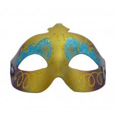 Маска домино с брокат - лилаво синя Парти маски и перуки