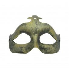 Маска домино мат - златиста Парти маски и перуки