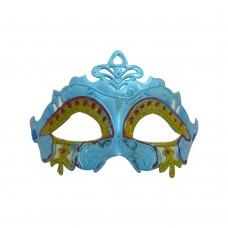 Маска домино с брокат - ажурна синя Парти маски и перуки