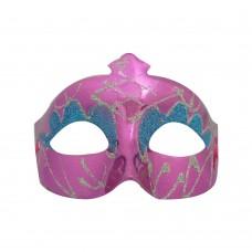Маска с брокат - розова Парти маски и перуки