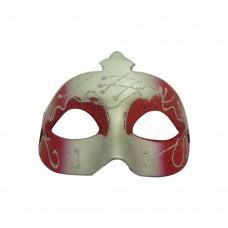 Маска с брокат - червена Парти маски и перуки