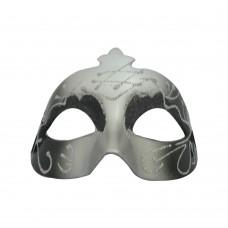 Маска домино с брокат - черна Парти маски и перуки