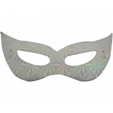 Маска домино - сребриста Парти маски и перуки