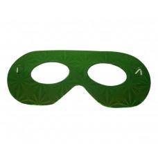 Маска домино -зелена Парти маски и перуки
