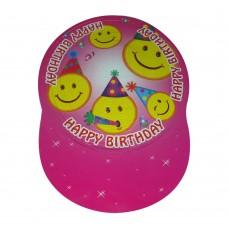 Шапка картон тип хармоника - розова Парти шапки