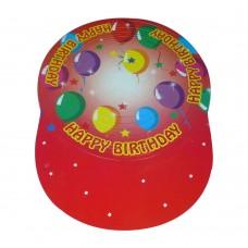 Шапка картон тип хармоника - червена Парти шапки