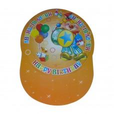 Шапка картон тип хармоника - златиста Парти шапки